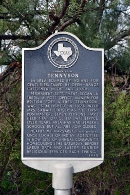 Community of Tennyson Marker image. Click for full size.