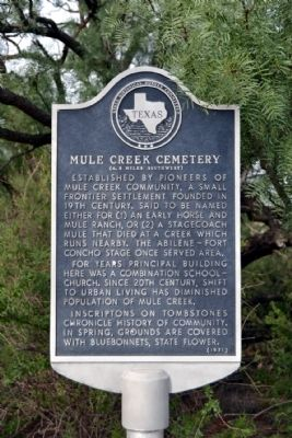 Mule Creek Cemetery Marker image. Click for full size.