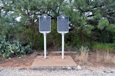 Tennyson and Mule Creek Cemetery Markers image. Click for full size.