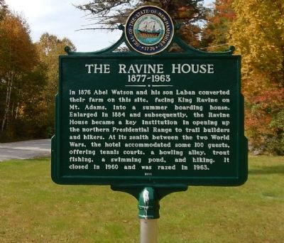 The Ravine House Marker image. Click for full size.