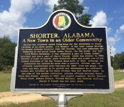 Shorter, Alabama Marker image. Click for full size.
