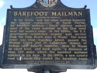 Barefoot Mailman Marker image. Click for full size.