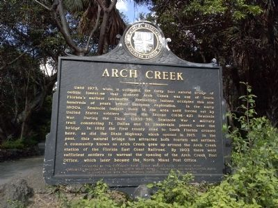 Arch Creek Marker image. Click for full size.