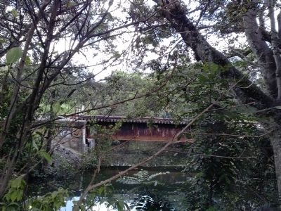 Arch Creek Park railroad trestle with hiker image. Click for full size.