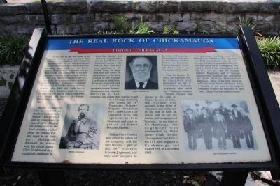 The Real Rock of Chickamauga Marker image. Click for full size.