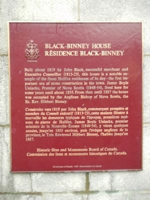 Black-Binney House Marker image. Click for full size.