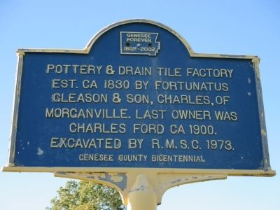 Pottery & Drain Tile Factory Marker image. Click for full size.