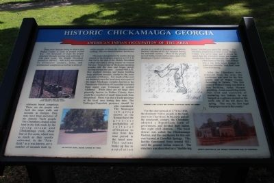 Historic Chickamauga Georgia Marker image. Click for full size.