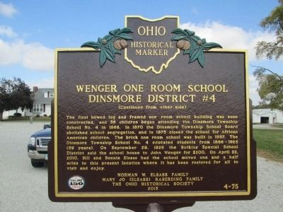 Side B - - Wenger One Room School Marker image. Click for full size.