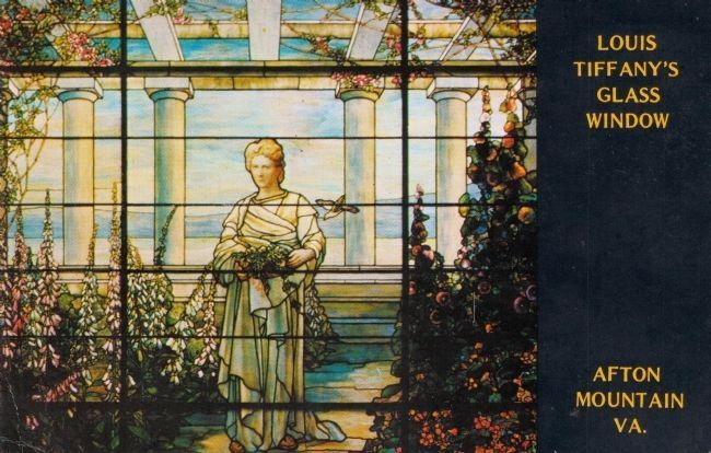 Louis Tiffany's Stained-Glass Masterpiece at Swannanoa, Afton Mountain, Va. image. Click for full size.