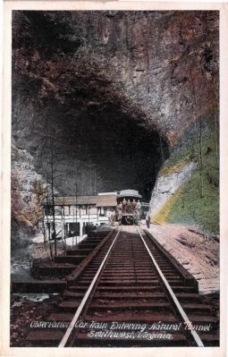 Observation Car Train Entering Natural Tunnel, Southwest, Virginia image. Click for full size.