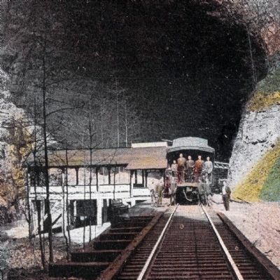Pavilion and Observation Car at Natural Tunnel image. Click for full size.