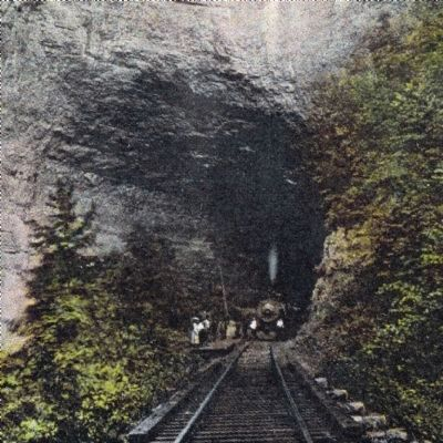 Small Passenger Platform at Natural Tunnel image. Click for full size.