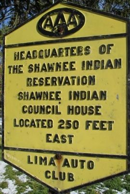 Shawnee Council House Marker image. Click for full size.