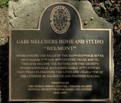 "Gari Melchers Home and Studio - ""Belmont"" Marker image. Click for full size."