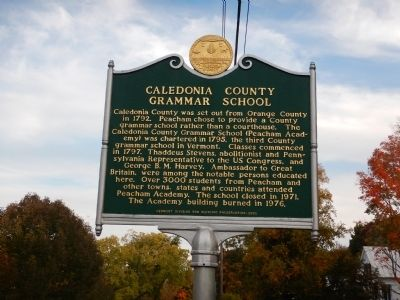 Caledonia County Grammar School Marker image. Click for full size.