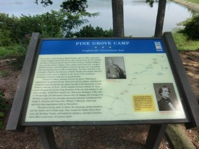 Pine Grove Camp Marker image. Click for full size.
