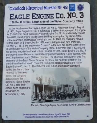 Eagle Engine Co. No.3 Marker image. Click for full size.