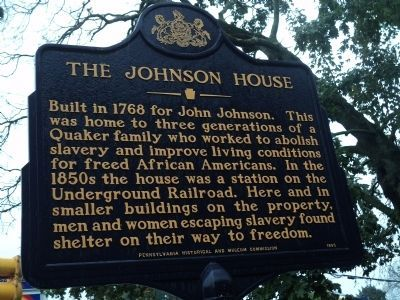The Johnson House Marker image. Click for full size.