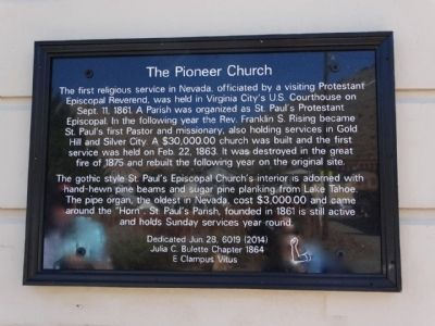 The Pioneer Church Marker image. Click for full size.