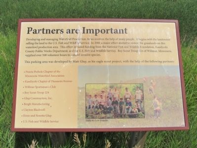 Partners are Important Interpretive Panel image. Click for full size.