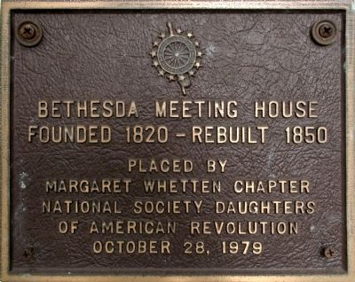Bethesda Meeting House Marker image. Click for full size.