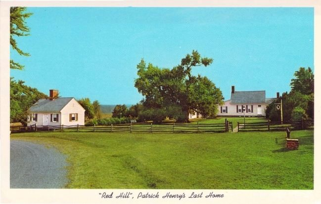"""Red Hill,"" Patrick Henry's Last Home image. Click for full size."