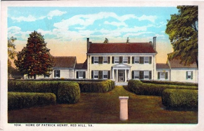 1014. Home of Patrick Henry, Red Hill, Va. image. Click for full size.