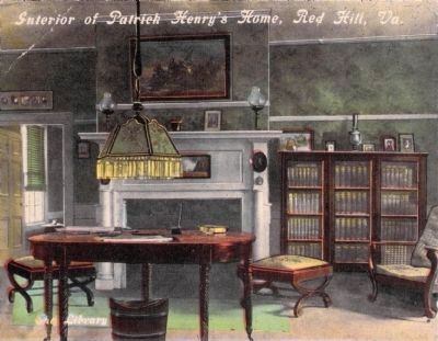 Interior of Patrick Henry's Home, Red Hill, Va.<br>The Library image. Click for full size.