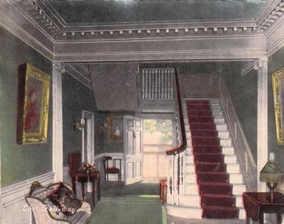 Interior of Patrick Henry's Home, Red Hill, Va.<br>The Hall-way image. Click for full size.