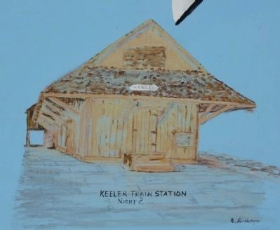 Keeler Train Station image. Click for full size.