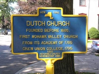 Dutch Church Marker image. Click for full size.