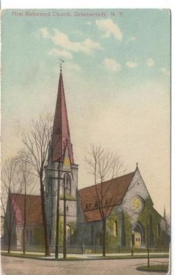 First Reformed Church of Schenectady Postcard image. Click for full size.