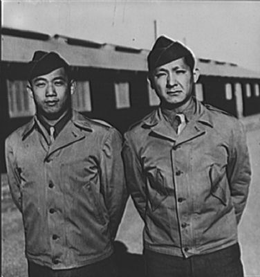 Chinese-Americans get officer rank. Camp Barkeley, Texas…. image. Click for full size.