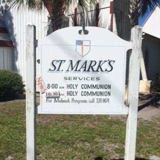 St. Mark's Episcopal Church Sign image. Click for full size.