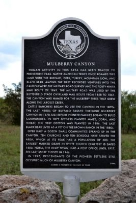 Mulberry Canyon Marker image. Click for full size.