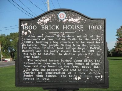 1800 Brick House 1963 Marker image. Click for full size.