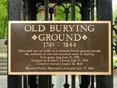 Old Burying Ground Marker image. Click for full size.