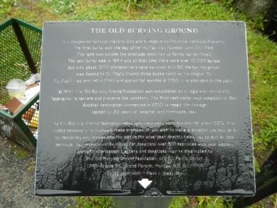 Old Burying Ground plaque image. Click for full size.