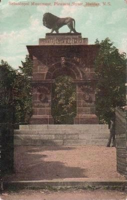 The Welsford Parker Monument postcard image. Click for full size.