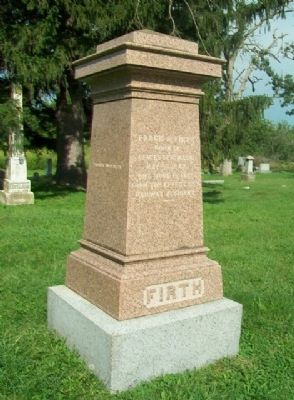 Frank R. Firth Monument image. Click for full size.