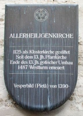 Allerheiligenkirche / All Saints Church Marker image. Click for full size.