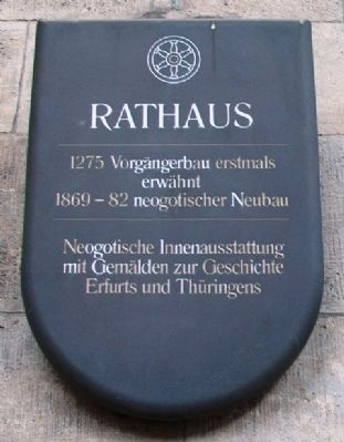 Rathaus / City Hall Marker image. Click for full size.