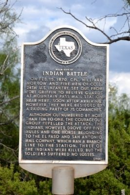Near Site of Indian Battle Marker image. Click for full size.