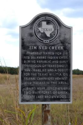 Jim Ned Creek Marker image. Click for full size.