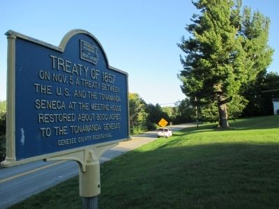 Treaty of 1857 Marker image. Click for full size.