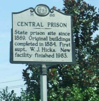 Central Prison Marker image. Click for full size.