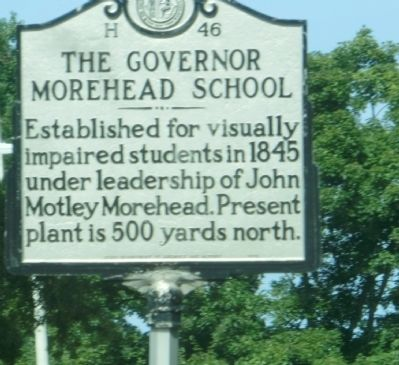 The Governor Morehead School Marker image. Click for full size.