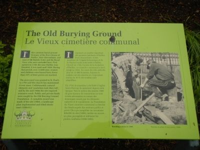The Old Burying Ground Marker image. Click for full size.