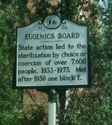 Eugenics Board Marker image. Click for full size.